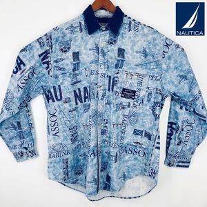 Vintage Nautica denim Marine fishing jacket Rare